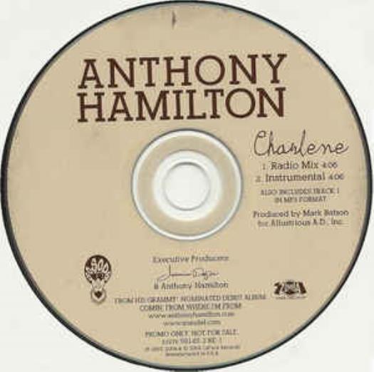 Anthony Hamilton: Charlene PROMO MUSIC AUDIO CD Radio Mix